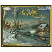 """Terry Redlin collezione Jigsaw Puzzle 1000 pezzi 24 """"X 30""""-serata con gli amici"""