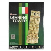AsianHobbyCrafts 3D Puzzle World's Greatest Architecture Series : Leaning Tower of Pisa : Model Size – 10cm x 10cm x 26cm