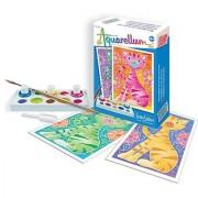 SentoSphere Mini Aquarellum Cats Arts and Crafts Paint Set