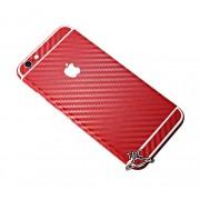 """Folie Iphone 6 / Iphone 6S """"Carbon fiber gear"""" TIP CARBON RED + GRATUIT FOLIE PROTECTIE ECRAN"""