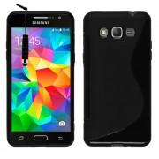 Samsung Galaxy Grand Prime Duos Tv Sm-G530bt: Housse Etui Pochette Coque S Silicone Gel + Stylet - Noir
