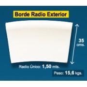Radio borde piscina Blanco Granallado 35 cm exterior