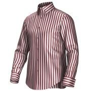 Maatoverhemd wit/rood 54394