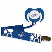 Los Angeles Dodgers Blue Pacifier And Pacifier Clip - 2014 Mlb Baby Fanatic Combo Set