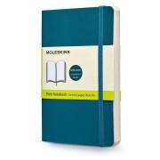 Moleskine - Blanko Notizbuch Pocket, Softcover, Unterwasser-blau