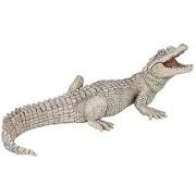 Papo White Baby Crocodile Figure