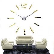 home decor quartz diy wall clock clocks horloge watch living room metal Acrylic mirror 20 inch (?Gold color)