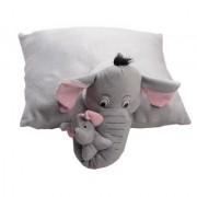 Tickles Grey Elephant Cushion Cum Toy Stuffed Soft Plush Toy 43 cm