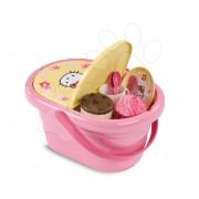 Gyermek piknik kosár Hello Kitty Smoby 24 kiegészítővel