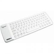 Taststura flexibila KB-BTF1-W-US, Alb