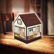 Pintoo - R1004 - Lovely Cafe Shop - 208 Piece Plastic Puzzle House Lantern