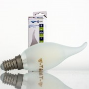 Lâmpada LED E14 4w»40W L.Quente 400Lm Vela-F FROSTglass