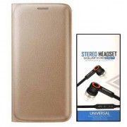 Lava A76 Flip cover With Universal Earphone(3.5mm jack)
