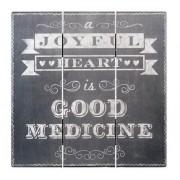 Home Decor Mdf Chalk Print Joyful Heart 12 X 12