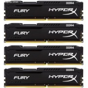 Kingston HX424C15FBK4/32 Hyper-x Fury 32GB (8GB x 4) DDR4-2400 CL15 1.2v Desktop Memory Module