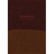 The NKJV, Woman's Study Bible, Fully Revised, Imitation Leather, Brown/Burgundy, Full-Color: Receiving God's Truth for Balance, Hope, and Transformati