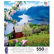 Ceaco Around The World Puzzle Ulvikfjord, Norway 550 Pieces
