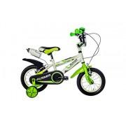F.Lli Schiano Runner Niño Bicicleta, Blanco/Verde, 12
