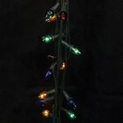 Гирлянда «Свечи», цветные перламутровые, 100 миниламп