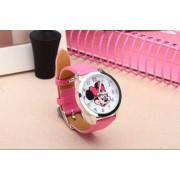 Mickey egér női/gyermek óra, rózsaszín szíj