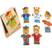 Dřevěné puzzle medvídci