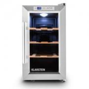 Klarstein Reserva Piccola, хладилник за вино за 8 бутилки, клас Б, дървени рафтове
