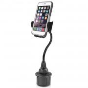Macally mCup Holder Mount 2XL - универсална поставка за кола за iPhone и мобилни телефони с ширина от 44мм. до 105мм.