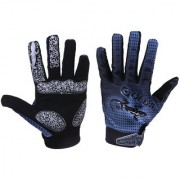 Goth Punk Gecko Pattern Cycling Bike Bicycle Motorcycle Ski Winter Sport Full Finger Gloves Size M