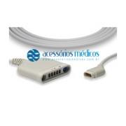 CABO TRONCO MULTIMED® MULTIPOD COMPATÍVEL Dräger® Infinity Vista Delta 3368391 (NQA-E189) / Registro Anvisa 80787710012 - NQA-E189