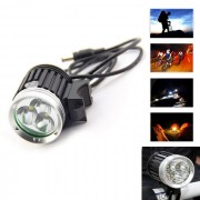 3LED diamante BK impermeable blanco neutro 3-Mode LED de luz de la bici (8.4V)