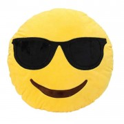 Smarty Smiley Plush Cushion With Sunglasses