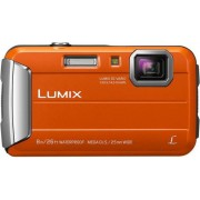 "Aparat Foto Digital Panasonic DMC-FT30EP-D, 16.1 MP, 1/2.3"" CCD, Filmare HD, Zoom Optic 4x (Portocaliu)"