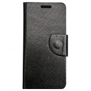AravStore Black Flip Flap Cover For Lenovo S650 - Diary style cover with magnetic closure