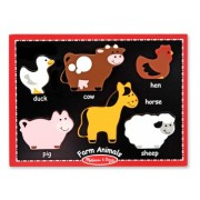 Melissa & Doug Farm Animals Prima Chunky Puzzle