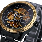 2016 New Winner Luxury Sport Clock Men Automatic Watch Skeleton Military Mechanical Watch Relogio Male Montre Relojes Mens Watch