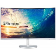 "Monitor VA LED Samsung 27"" LC27F591FDUXEN, Full HD (1920 x 1080), HDMI, DisplayPort, VGA, 4 ms, Boxe, Ecran Curbat (Argintiu) + Set curatare Serioux SRXA-CLN150CL, pentru ecrane LCD, 150 ml + Cartela SIM Orange PrePay, 5 euro credit, 8 GB internet 4G"
