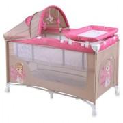 Bertoni Krevetac Baby Nanny 2 Nivoa Plus Beige & Rose Princess