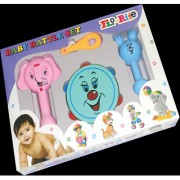 Flo-Rite New Just Born Infant Baby Toys 4 pcs Rattle Gift Set Multicolor