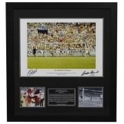 Pele and Gordon Banks Hand Signed Photo