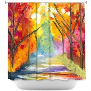 DiaNocheDesigns The Road Less Traveled Shower Curtain SHO-JessilynParkTheRoadLessTraveled