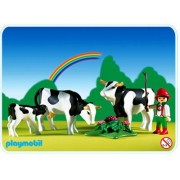 Playmobil 3077 - Vacher Et Famille De Vaches