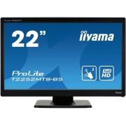 "Monitor TN LED iiyama 21.5"" ProLite T2252MTS-B5, TouchScreen, Full HD (1920 x 1080), VGA, DVI, HDMI, 2 ms, Boxe (Negru)"
