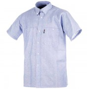Camicia cotone 100% manica corta azzurro tg 3XL