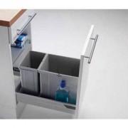 WESCO Poubelle de tiroir - 2 bacs - 25 l - WESCO