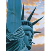 "Statue of Liberty ""Someones Watching"" Mark Waller Jigsaw Puzzle 500 Pieces"