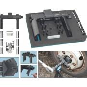 Universal-Achs- und Nutmuttern-Schlüsseleinheit-Werkzeug-Satz - Vierkant hohl 20 mm (3/4 Zoll) - Anzahl Werkzeuge: 16 - 772-2/16