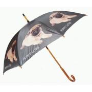 """Regenschirm, Stockschirm Mops Baby """"Puppy Love"""""""