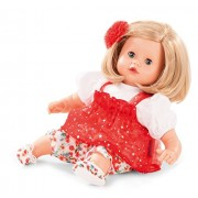 Gotz Muffin 13 Soft Baby Doll with Blonde Hair and Blue Sleeping Eyes in Red Dress by Gotz