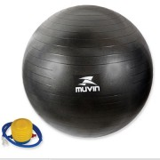 Bola de Pilates Anti Estouro 65cm com Bomba de Ar - Azul