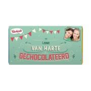 Verkade chocoladereep - Van harte (Puur)